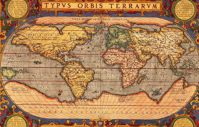 Ancient world map lienzos metlicos redbubble gumiabroncs Image collections