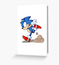 Sonic Runner Greeting Card