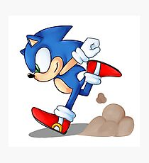 Sonic Runner Photographic Print
