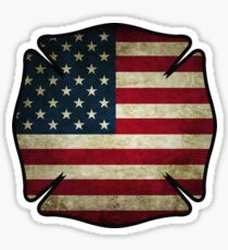 American Firefighter -sticker Sticker