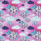 Seamless graphic pattern geometric clouds by Tanor