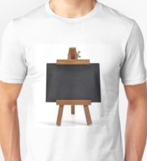 Blackboard with easel on white Unisex T-Shirt