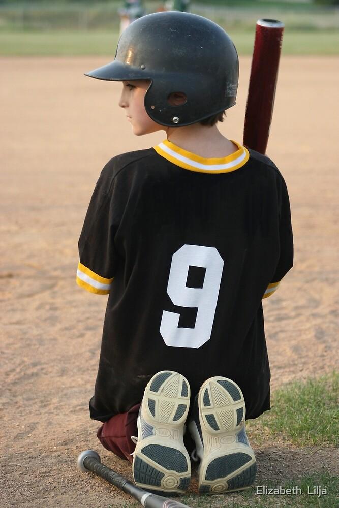 Boy Waiting To Bat by Elizabeth  Lilja