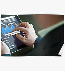 Businessman with digital tablet PC Poster