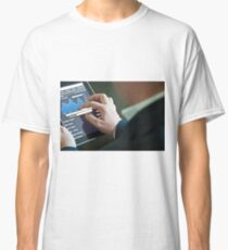 Businessman with digital tablet PC Classic T-Shirt