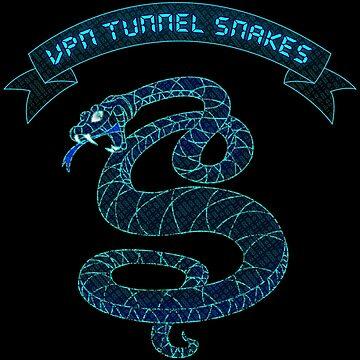VPN Tunnel Snakes by fuzzyscene