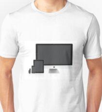 Multiscreen - Apple Watch, iPhone, iPad and iMac screens  Unisex T-Shirt