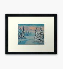 Early To Rise, winter scene Framed Print