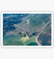 Bregenz: River Rhine entering Lake Constance Sticker