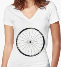 Mavic Ellipse Wheels Women's Fitted V-Neck T-Shirt