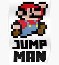 Mario Jump Man Poster