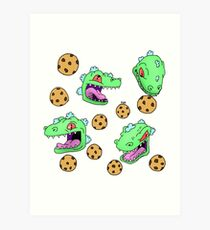 Cookie Dinosaur Art Print