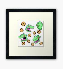 Cookie Dinosaur Framed Print