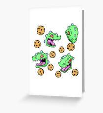 Cookie Dinosaur Greeting Card
