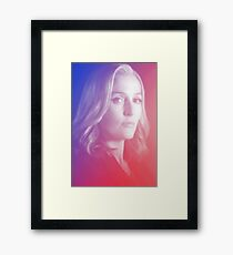 X-files Dana Scully sticker Framed Print