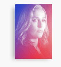X-files Dana Scully sticker Canvas Print