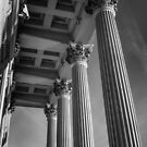 Study in Black and White.. US Customs House  by Wendy Mogul