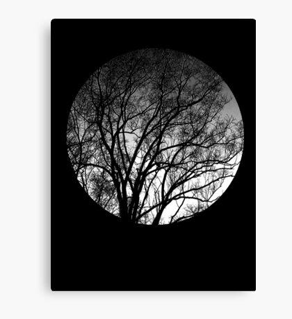 Nature into me! - Black Canvas Print