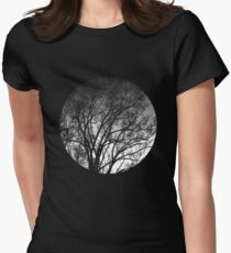 Nature into me! - Black Women's Fitted T-Shirt