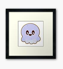 Cute Kawaii Baby Blue Octopus Framed Print