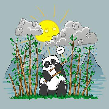 Panda In Rain by VanHogTrio