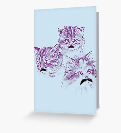 Meowstache Greeting Card