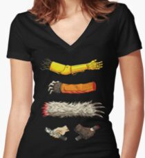 Casualties of Wars Women's Fitted V-Neck T-Shirt