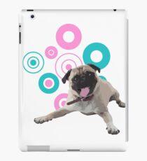 Retro Circles Pug Vector iPad Case/Skin