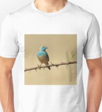 Blue Waxbill - Colorful Exotic Birds from Africa - Colors in Nature T-Shirt
