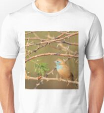 Blue Waxbill - Exotic Colorful Wild Birds from Africa - Sharp Beauty T-Shirt