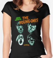 THE YOUNG ONES Nasty Women's Fitted Scoop T-Shirt