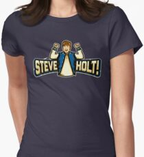 Steve Holt! Womens Fitted T-Shirt