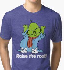 Muppet Babies - Bunsen - Raise The Roof - White Font Tri-blend T-Shirt