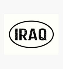 Iraq Art Print