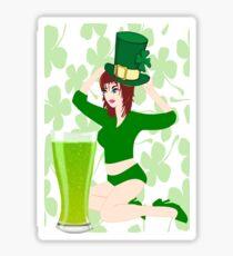On St.Patrick's Day (1038 Views) Sticker