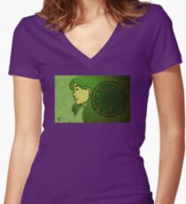 Dana and the Circle of the Enlightened Women's Fitted V-Neck T-Shirt