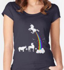 Funny unicorn origin Women's Fitted Scoop T-Shirt