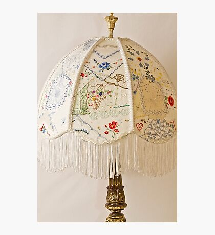 Vintage Lampshade Handstitched Photographic Print