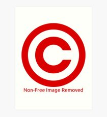Non-Free Image Removed Copyright Infringement Art Print