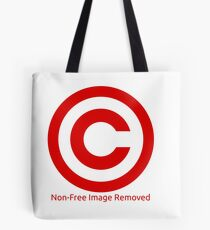 Non-Free Image Removed Copyright Infringement Tote Bag