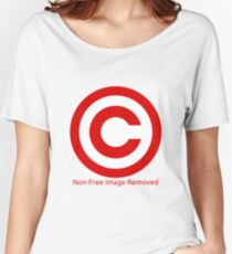Non-Free Image Removed Copyright Infringement Women's Relaxed Fit T-Shirt