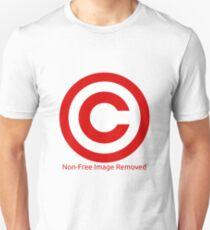 Non-Free Image Removed Copyright Infringement Unisex T-Shirt