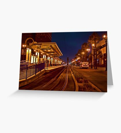 Metro Rail at twilight Greeting Card