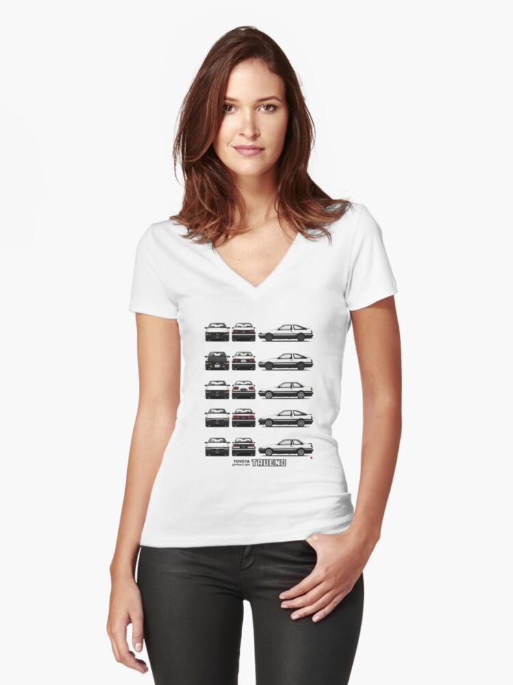 V En Toyota Entalladas De Camisetas «ae86 Para Cuello Mujer 4SPwHxnq7t