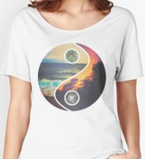 "CHILL VIBES ""YANG"" Women's Relaxed Fit T-Shirt"