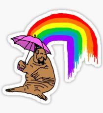 Classy Walrus Sticker