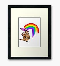 Classy Walrus Framed Print