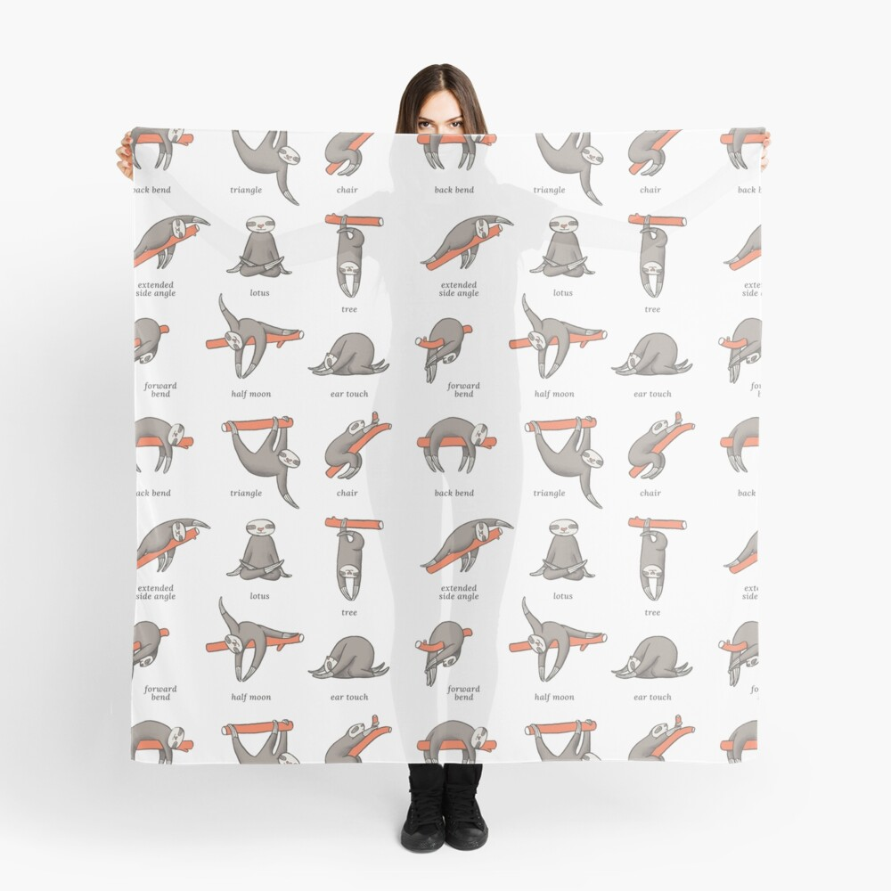 Sloth Yoga - The Definitive Guide Scarf