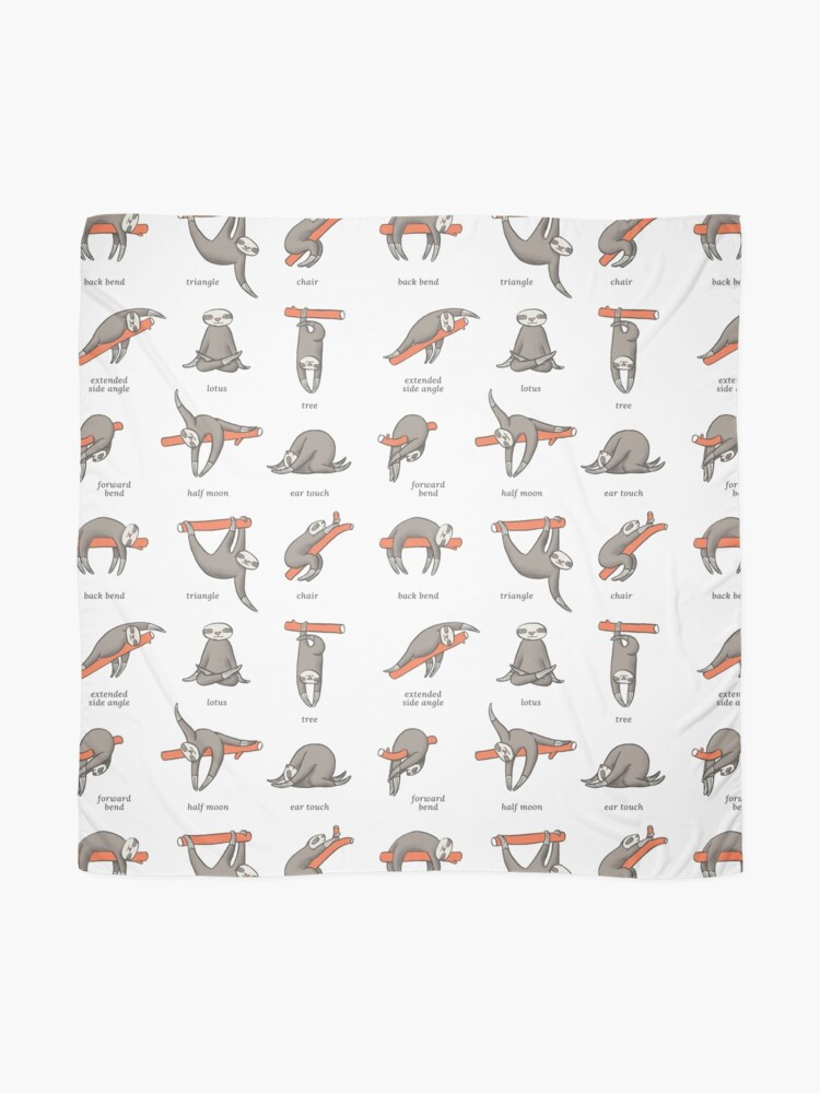 Alternate view of Sloth Yoga - The Definitive Guide Scarf