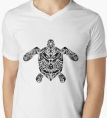 Turtle Tribe Mens V-Neck T-Shirt